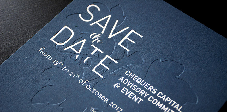 Save the date Chequers